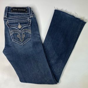 ROCK REVIVAL JEANS DEBBIE BOOT SIZE 27